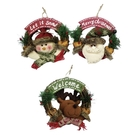 【X mas聖誕特輯】聖誕裝飾-裝飾藤圈(9吋) 雪人Y0029350/老公公Y0027350/麋鹿Y0028350