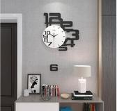 北歐鐘表掛鐘客廳表個性創意搖擺掛表現代簡約家用時尚靜音時鐘 rj2172『黑色妹妹』