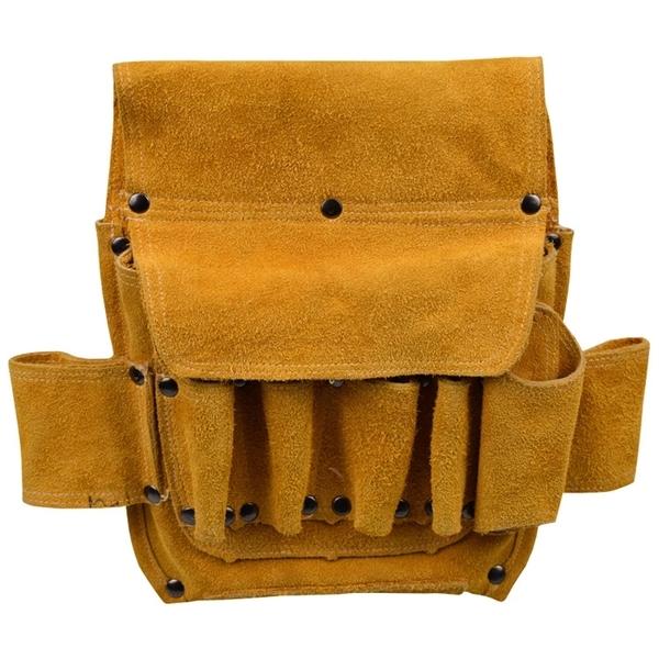 電工腰包牛皮加厚耐磨電工工具包五金水暖腰帶維修壁紙電工神器 「免運」