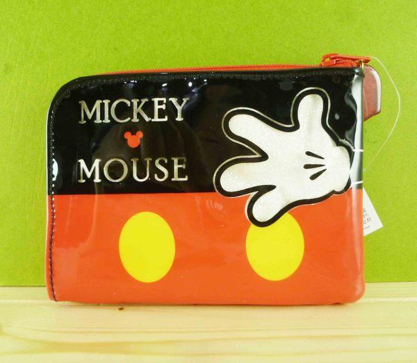 【震撼精品百貨】Micky Mouse_米奇/米妮 ~L型拉鍊包-黑紅