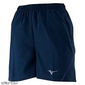 MIZUNO 女裝 短褲 慢跑 路跑 單層 口袋 反光 靛藍【運動世界】J2TB175313
