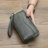錢包女長款2020新款時尚歐美手拿包零錢包手抓包雙拉鏈軟皮手包 HOME 新品