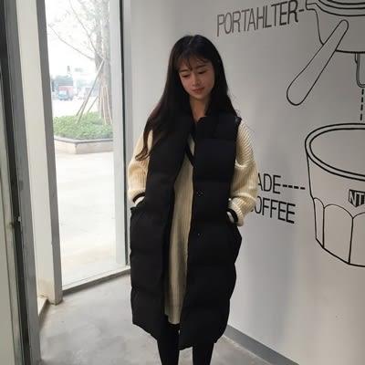 背心外套 長款-時尚潮流氣質顯瘦女無袖背心73kh33【巴黎精品】