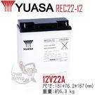 湯淺 REC22-12 閥調式鉛酸蓄電池...