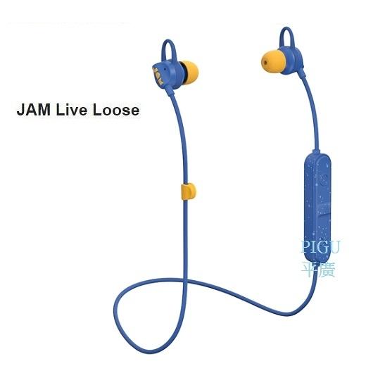 平廣 JAM Live Loose 藍色 藍芽耳機 送繞 公司貨保固1年 耳機 最長6小時 防汗水 耳道式