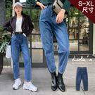 LULUS-D刷色牛仔老爺褲S-XL-深藍  【04190209】