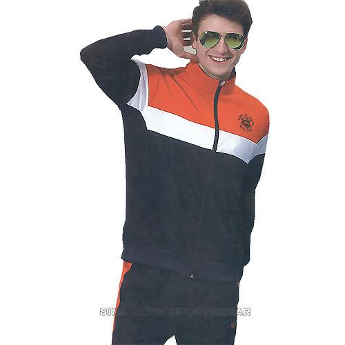 義大利名牌SINA COVA男女吸濕排汗單層針織運動服套裝-全套(深藍)