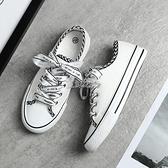 小白鞋 帆布鞋女韓版百搭休閒鞋子春夏季新款學生平底小白鞋板鞋