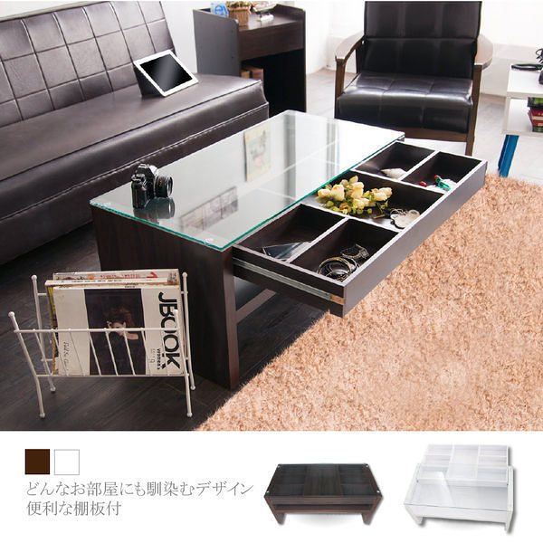 MIT台灣製【Buyjm】建-日式經典收納大茶几桌 餐桌/小桌/玻璃桌/電腦桌/和室桌/咖啡桌/客廳 TA002