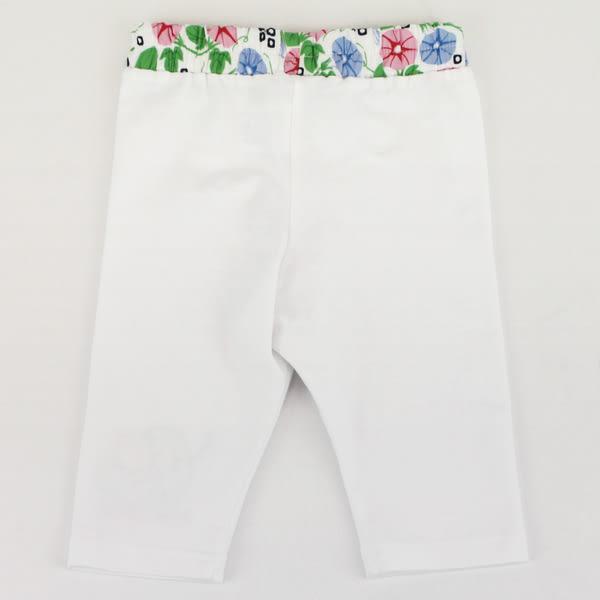【愛的世界】彈性緊身七分褲-白/1~3歲-台灣製- ★春夏下著