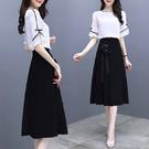 兩件式洋裝 女裝2021新款潮很仙法式衣服連衣裙子氣質女神范兩件套裝夏裝顯瘦 霓裳細軟