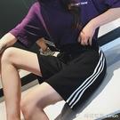 新款韓版運動短褲女夏寬鬆高腰五分褲直筒休閒中褲大碼潮外穿 雙十二全館免運