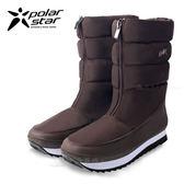 PolarStar 女 保暖雪鞋│雪靴│冰爪『咖啡』 P16628 (內厚鋪毛/ 防滑鞋底) 雪地靴.非UGG靴.雪地必備