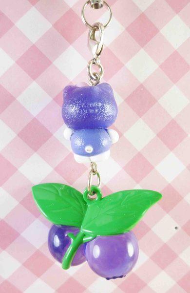 【震撼精品百貨】Hello Kitty 凱蒂貓~限定版手機吊飾-藍莓