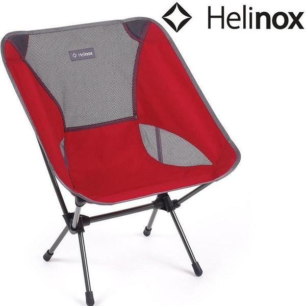 『VENUM旗艦店』Helinox Chair One L 輕量戶外椅 猩紅/鐵 Scarlet/Iron