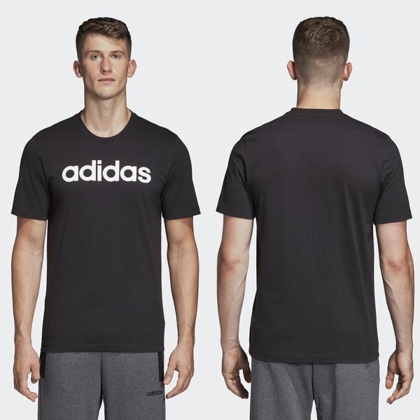 【GT】Adidas 黑白藍 短袖T恤 運動 休閒 訓練 純棉 素色 字母 上衣 短T 愛迪達 基本款 Logo