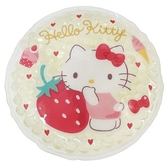 小禮堂 Hello Kitty 圓形保冷劑 (黃草莓款) 4548626-14290