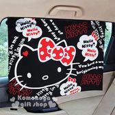 〔小禮堂〕Kitty 汽車遮陽簾《2入.黑.大臉.對話框》附4吸盤.輕鬆裝飾愛車 4713909-23343