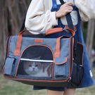 貓包手提寵物外出斜挎透氣貓咪帆布攜帶貓袋大號狗狗貓包外出便攜 依凡卡時尚