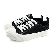 KANGOL 帆布鞋 餅乾鞋 女鞋 黑色 厚底 6952200120 no040