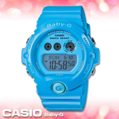 CASIO卡西歐 手錶專賣店  Baby-G BG-6902-2B 夏日風 雙顯錶 防水200米 碼錶 世界時間 橡膠錶帶