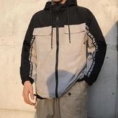 港風防曬衣 男夏季新款潮流薄款拼色圓領遮陽衣服寬鬆休閒夾克外套 JX3097『男神港灣』