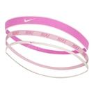 Nike 髮帶 Mixed Hairbands 3 pack 粉紅 白 女款 矽膠 止滑 運動休閒 【ACS】 N000254862-0OS