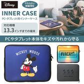 尼德斯Nydus 日本正版 PGA 迪士尼 米老鼠 13.3吋 筆電平板 輕量薄型 防潑水 保護袋 MAC Air