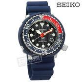 SEIKO 精工 / V157-0CX0B.SNE499P1 / PROSPEX PADI 太陽能 潛水錶 防水200米 矽膠手錶 黑x藍 45mm
