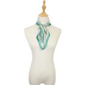 闕蘭絹宮廷馬車100%蠶絲方巾-綠色S24-5