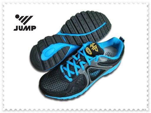 JUMP 將門 男款 運動鞋 慢跑鞋 黑/土耳其藍-796