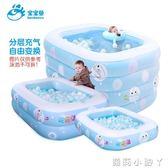 泳池寶寶魚嬰兒游寶寶家用水池保溫加厚新生兒嬰幼兒童充氣游泳桶 igo 蘿莉小腳ㄚ