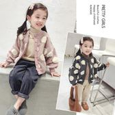 童裝女童韓版新款大圓點外套兒童男女夾克寶寶秋冬公主上衣