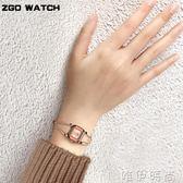 手錶 手錶女士防水時尚潮流大氣簡約小巧手鍊手鐲式開口女土新款錶 唯伊時尚