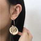 氣質壓克力紋理雙層耳環 耳針 MHJ3404