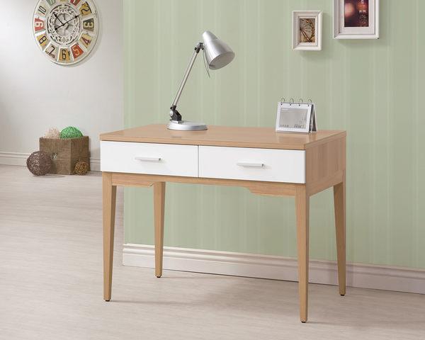 【森可家居】金詩涵3.3尺二抽書桌 7ZX628-7 木紋質感 北歐風 日系無印風