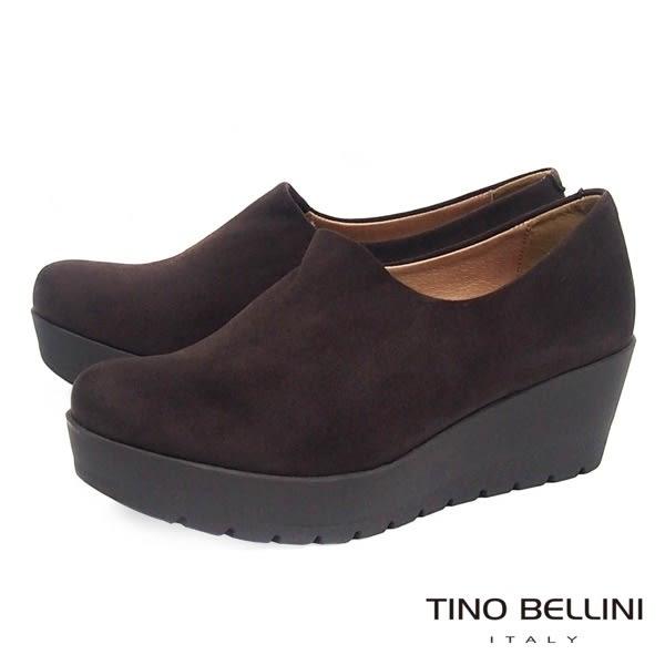 Tino Bellini 西班牙進口內斂姿態厚底鞋 _ 咖 A69019 歐洲進口款