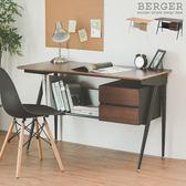 日本 辦公桌 開學季 書桌 電腦桌 辦公桌【H0084】柏格工業風雙抽電腦桌 MIT台灣製 完美主義