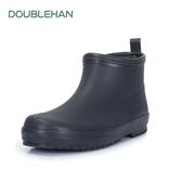 Double han雨鞋男短筒雨靴水鞋男士套鞋防水防滑橡膠時尚輕便秋冬