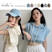 LULUS【A01210373】G自訂款連帽縮腰無袖上衣7色