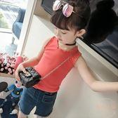 女童夏裝新款韓版童裝女兒童吊帶背心夏季薄款百搭純色打底衫 店家有好貨
