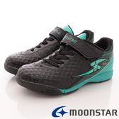 【MOONSTAR】日本月星競速童鞋-彈力足球鞋款7476黑(19cm-24.5cm)