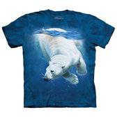 【摩達客】(預購)美國進口The Mountain 潛水北極熊 純棉環保短袖T恤(10415045048)