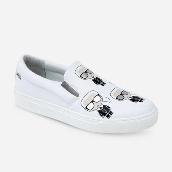 Karl Lagerfeld 卡爾 老佛爺女鞋 KUPSOLE MULTI-Q版樂福鞋-白