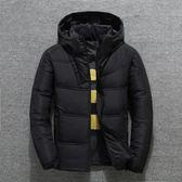 新款冬季短款男士冬裝加厚羽絨服白鴨絨保暖外套青年帥氣寬鬆大碼