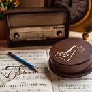 幸福森林.木製 發條式選轉音樂盒 客製化禮物-可愛長頸鹿