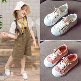 韓版女童帆布鞋男童休閒軟底布鞋兒童一腳蹬運動鞋潮吾本良品