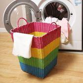 髒衣籃髒衣籃編織籃髒衣服收納籃筐玩具筐髒衣桶髒衣簍洗衣籃wy