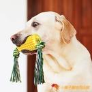 狗狗玩具玉米磨牙發聲潔齒球耐咬解悶寵物用品繩結【小獅子】