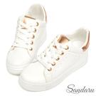 訂製鞋 內增高夏日綁帶小白鞋-金色下單區...